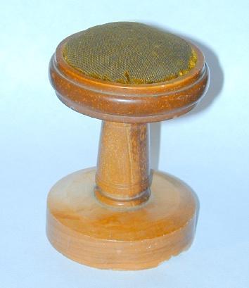 Rare Late 19th Century Catlinite Pedestal Traveler's Pincushion - FREE shipping