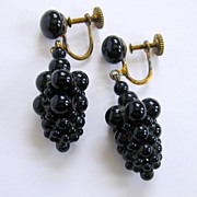 Quirky and Fun - Vintage Grape Earrings!