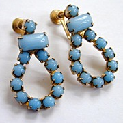 Beautiful Blue Vintage Loop Earrings