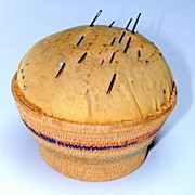 Vintage Native American Basket Pin Cushion