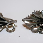 Sterling Silver Vintage Flower Earrings