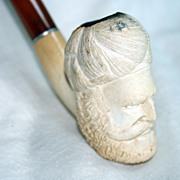 Vintage Figural Meerschaum Pipe - Man with Turban