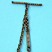 circa 1900 Watch Chain with Fob