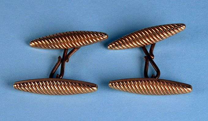 1920s Torpedo Swirl Cuff Links