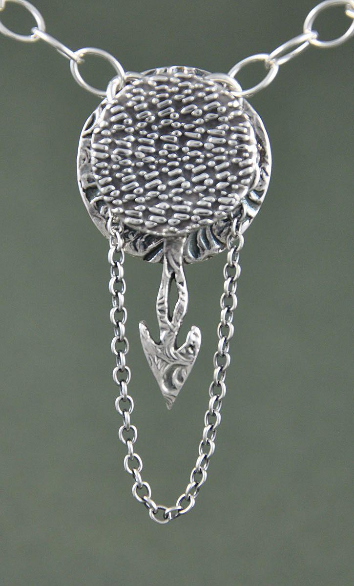 Handmade Fine Silver Pendulum Pendant