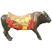 Rare Spanish Fighting Bull  from an early European Carousel