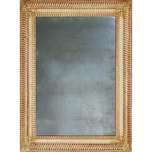 Café 'Linenfold' Mirror from France
