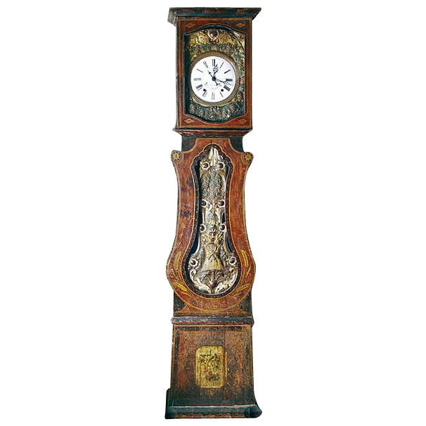 French 'Grandfather' clock  (19th Century.)