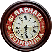 French Tin Advertising Clock