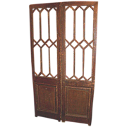 Pair of Multi-Pane Entry Doors   c.1900
