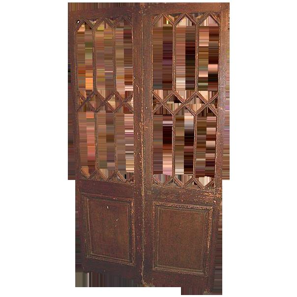 Pair of Multi-Pane Entry Doors   c.1900
