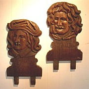 Carved Art Shop Heads from shop in Florence