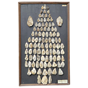Montage of Prehistoric Arrowheads from a Museum
