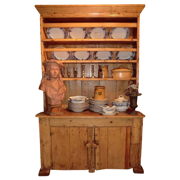 Small Irish pine Kitchen Dresser