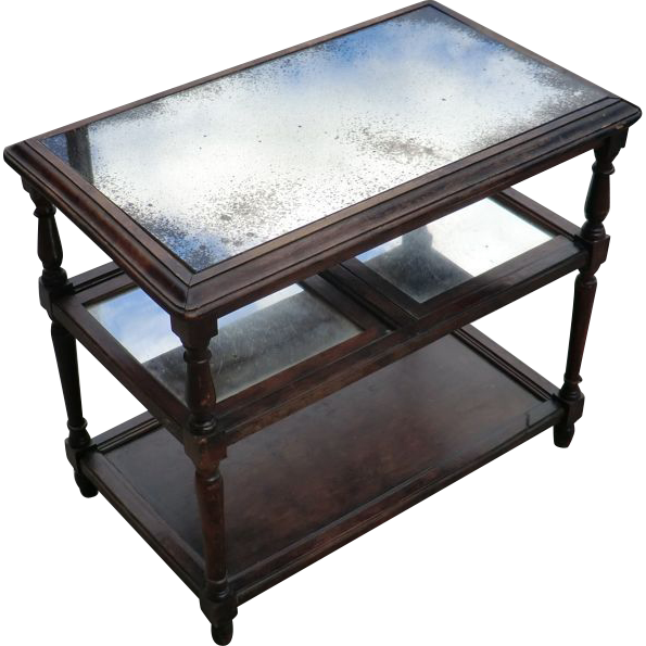 Small mirrored top Music Table from France