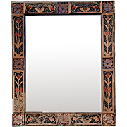 'Tramp Art' Framed Mirror from France