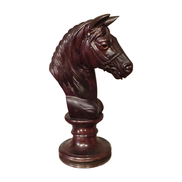 Horse Head carved in Wood