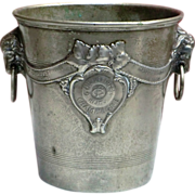 Vintage Pewter Champagne Ice Bucket from France