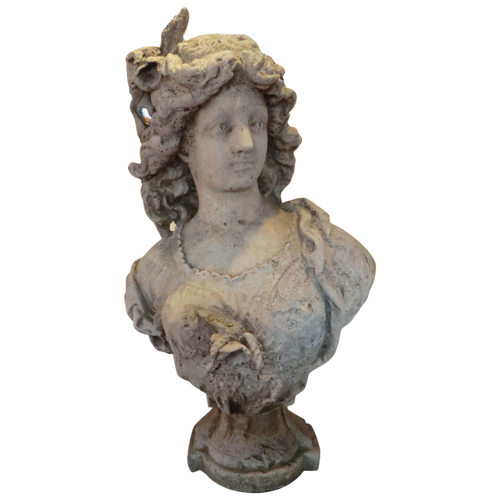 Stone Bust of French Courtesan