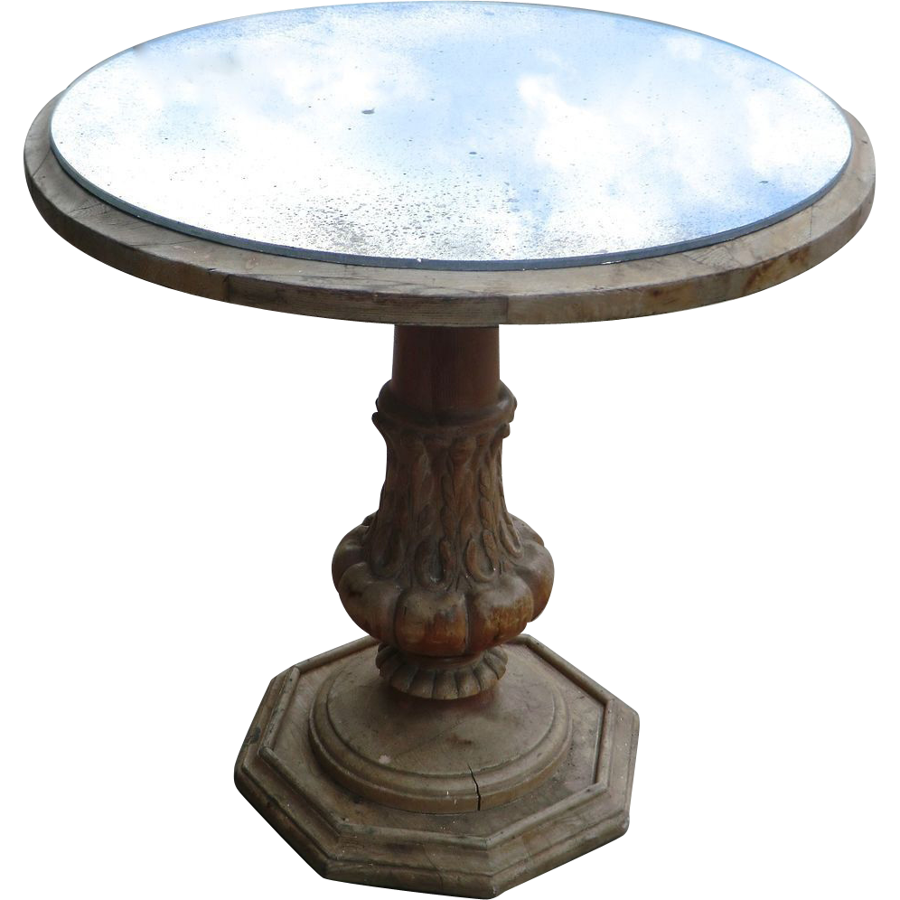 Mirror Top Coffee Table from France.