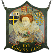 Queen Elizabeth I Pub Sign from England