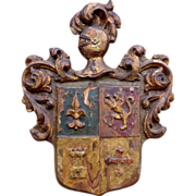 Carved Wooden Armorial Coat-of-Arms