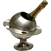 Rare 'Saturn Ring' Champagne Ice Bucket
