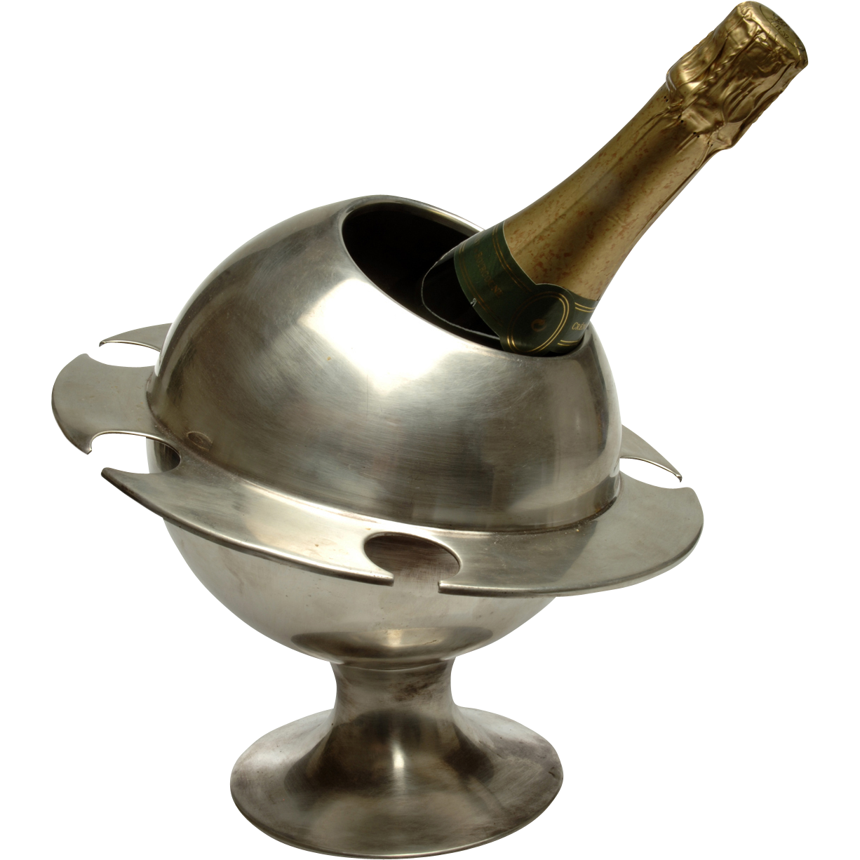 Rare Signed 'Saturn Ring' Champagne Bucket