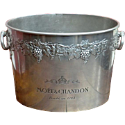 'Moet & Chandon' Pewter Champagne Ice Bucket