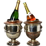 Pair of  Fine Silver-Plate Champagne Ice Buckets