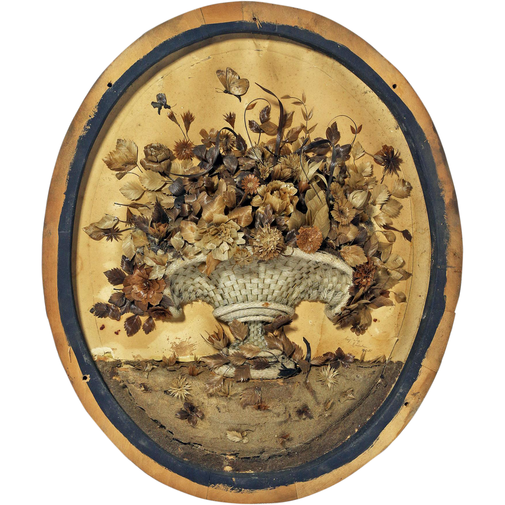 Early 19th C. Floral Diorama