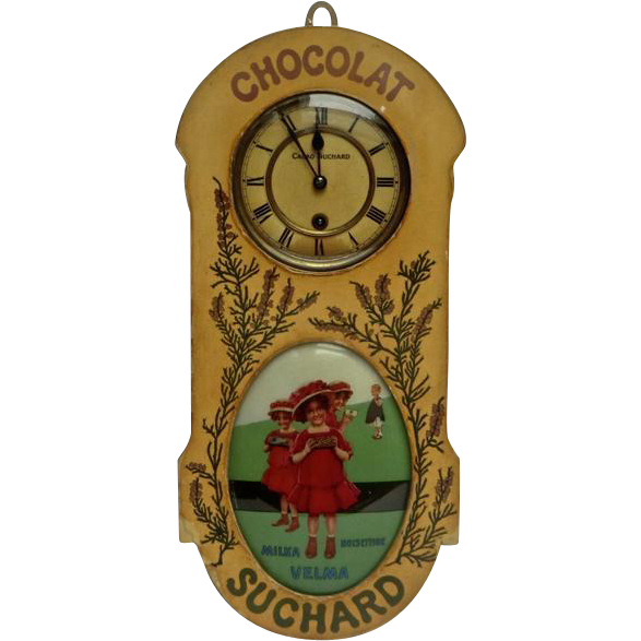 Rare French Chocolate Advertising Wall Clock