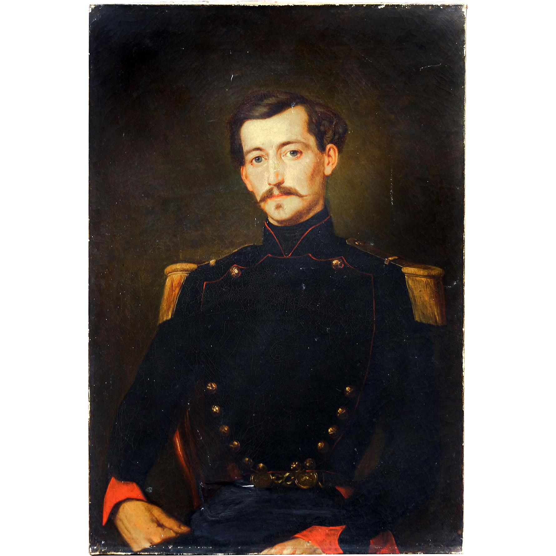 Portrait Painting in Oil of a Cavalry Officer..