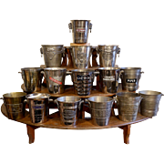 Collection of 10 Vintage Silver-Plated Advertising Champagne Buckets