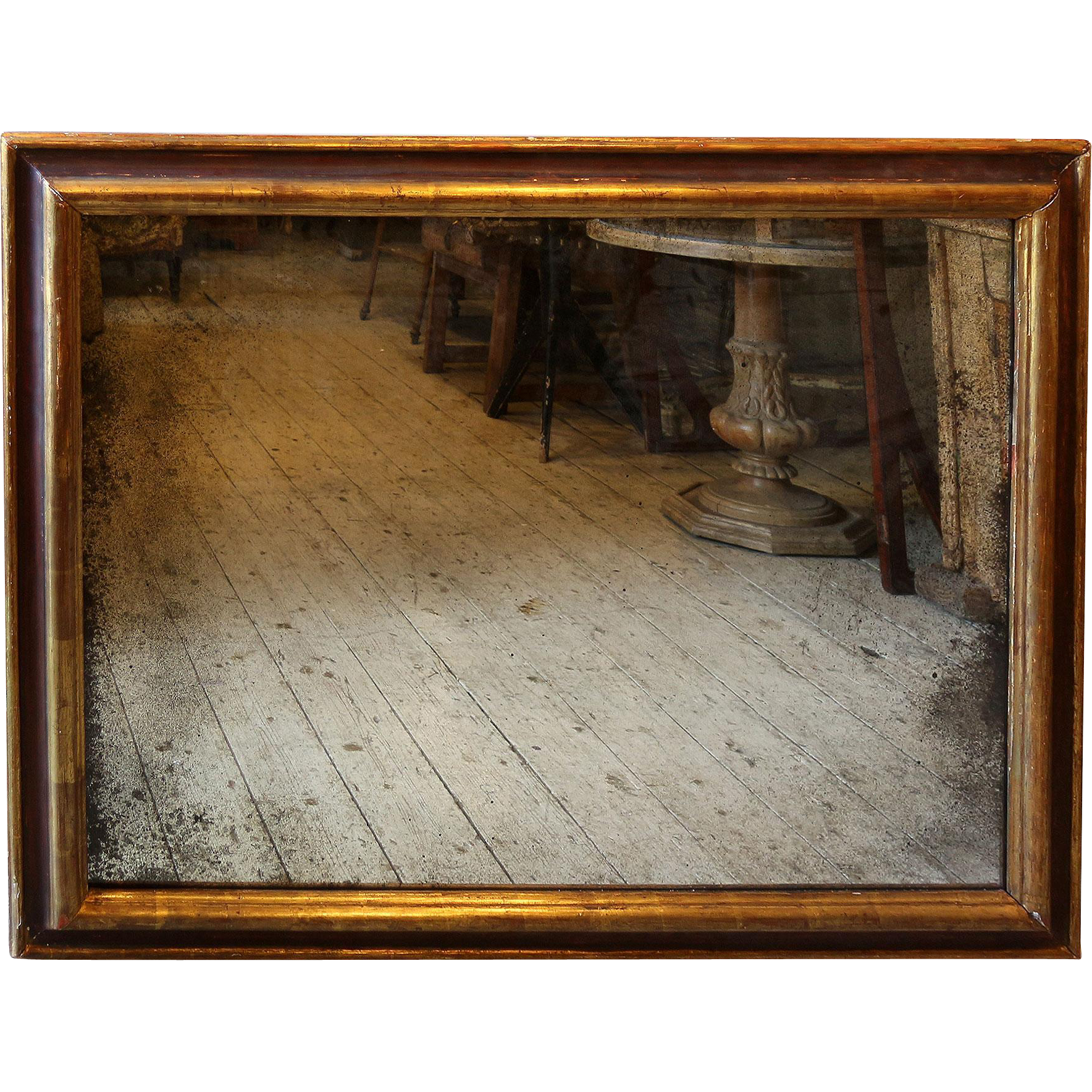 Wood Photo Frames Png : ... Wall Mirror in Gilded & Painted Wood Frame. from relic on Ruby Lane