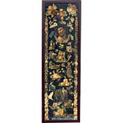 Victorian Scrap Screen Panel with 'Crown of Thorns' Image