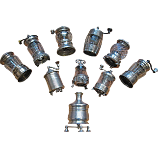 Unique Collection of 10 Pepper Grinders from France