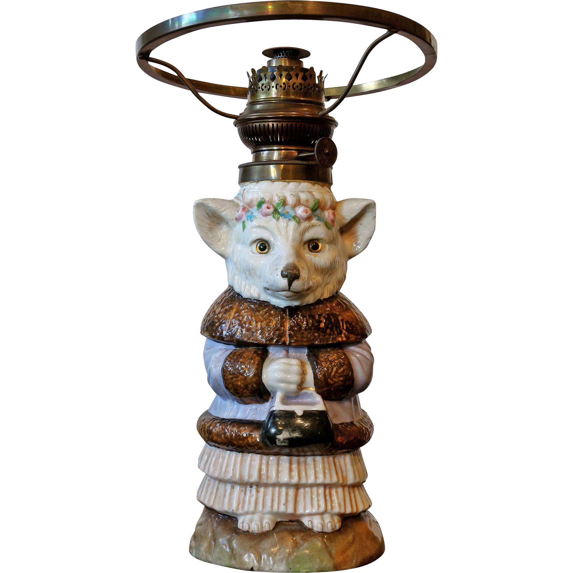 Rare 'William Whitely' Fox Oil Lamp