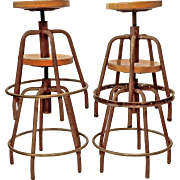 Set of 4 Vintage Stools from Spain.