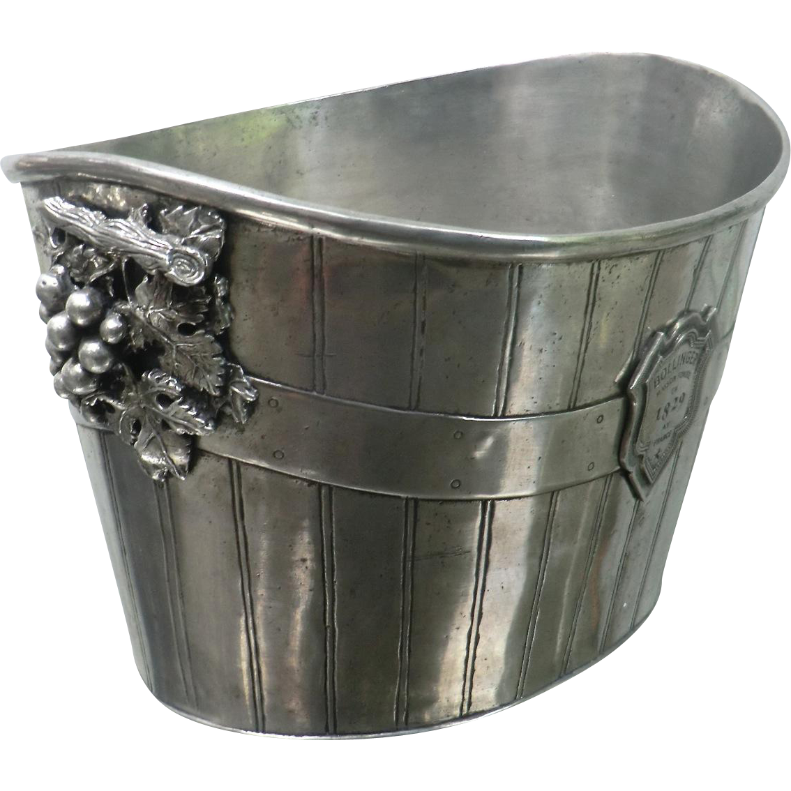 Rare & Superb 'Bollinger' Double-size Pewter Champagne Ice Bucket