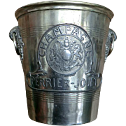 Vintage Champagne Ice Bucket with Royal Coat-of-Arms