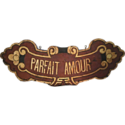 Original Painted Metal Hanging Sign for French Liqueur 'Parfait Amour'.
