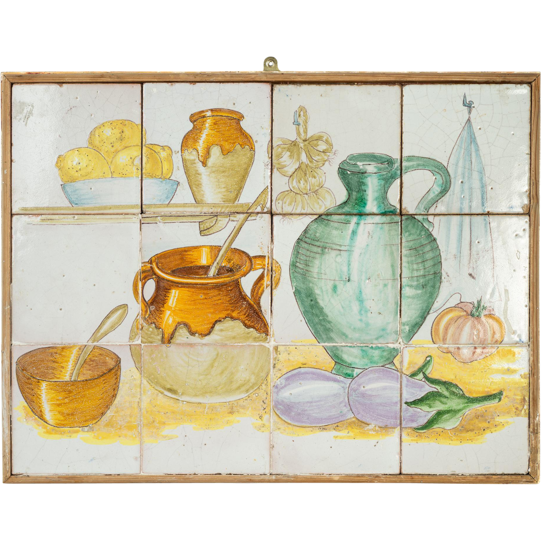 Vintage Tiled French Kitchen Scene From Relic On Ruby Lane