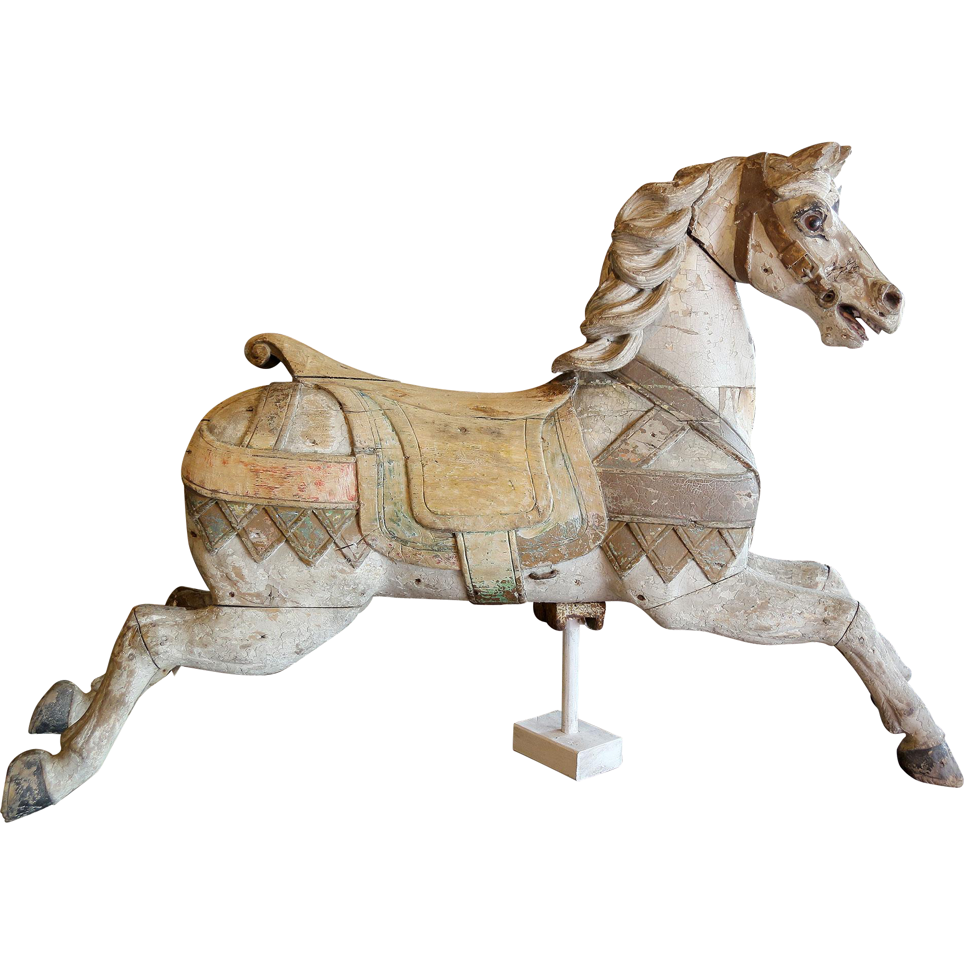 Carved Wood Carousel Horse by Heyn