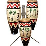 Vintage set of Bongo Drums