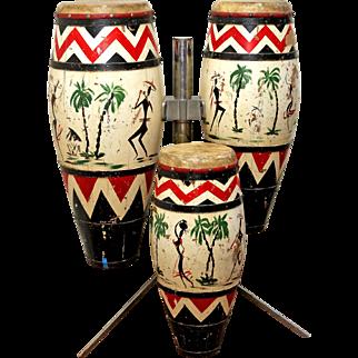 Vintage set of Bongo Drums