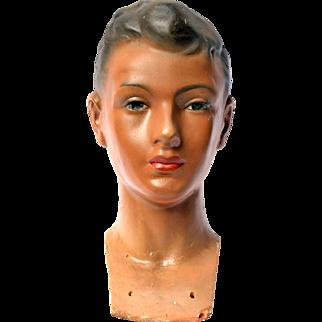 Vintage Boy Mannequin Head by Siegel of Paris
