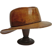 Vintage Ranchers' Wooden Hat Block from France