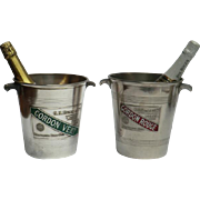 "Attractive pair of ""Mumm' Champagne Ice Buckets"