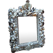 Vintage Seashell framed Mirror from Scotland.